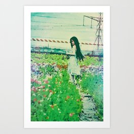 """A Flower Does Not Think Of Competing To The Flower Next To It. It Just Blooms"" Art Print"