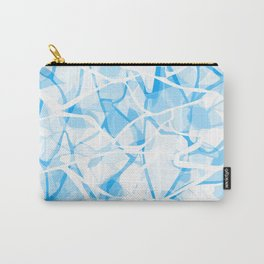 White blue abstract Carry-All Pouch