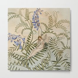 """Fairy Resting Among Flowers"" by Amelia Jane Murray Metal Print"