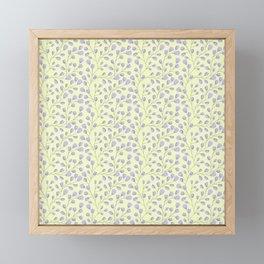 BLUE FLOWERS Framed Mini Art Print