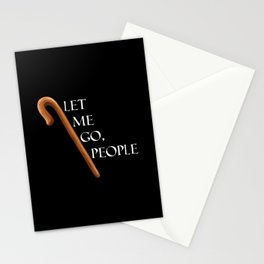 Passover Special -  The Staff of Moses - Let me go people! Black Stationery Cards