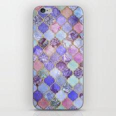 Royal Purple, Mauve & Indigo Decorative Moroccan Tile Pattern iPhone & iPod Skin
