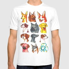 Brush Breeds Compilation 2 Mens Fitted Tee White MEDIUM