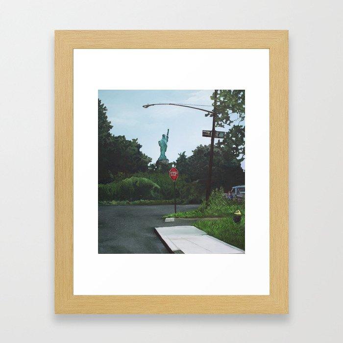 Dead-End Liberty Framed Art Print