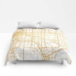 DENVER COLORADO CITY STREET MAP ART Comforters