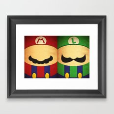Player 1 Player 2 Framed Art Print