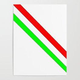 flag of Italia scarf- Italy,Italia,Italian,Latine,Roma,venezia,venice,mediterreanean,Genoa,firenze Poster
