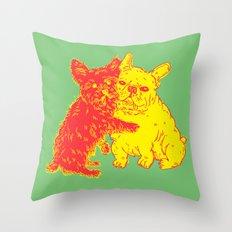 <3 Doggies Throw Pillow