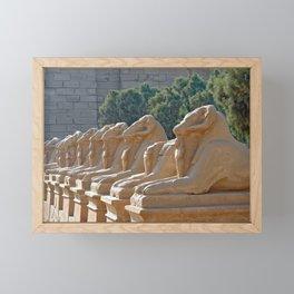 Ram-headed Sphinxes in Karnak Framed Mini Art Print