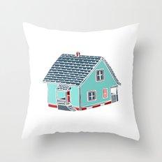 Little Porch House Throw Pillow