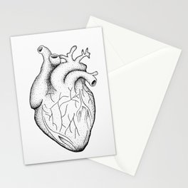 dotwork heart Stationery Cards