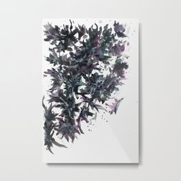 Midnight Trees Abstract Painting Metal Print