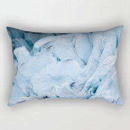 Blue Glacier in Norway - Landscape Photography Rectangular Pillow