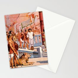 "Classical Masterpiece ""Egyptian Ramesses II Throne Room"" by Herbert Herget Stationery Cards"