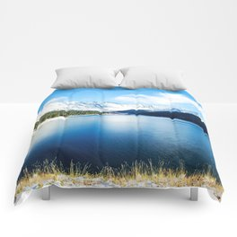 Clinton Gulch // Day Light Mountain Lake Forest Snow Peak Landscape Photography Hiking Decor Comforters