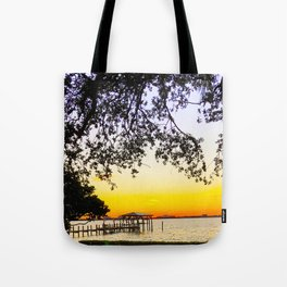 Summer Sunset Over the Bay Tote Bag