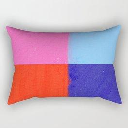 Doodle: colorblock Rectangular Pillow
