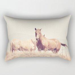 Dreamy Western Horses Rectangular Pillow