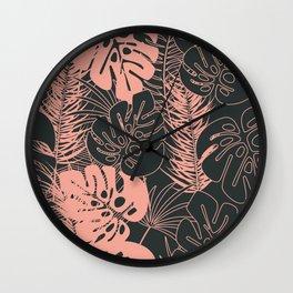 Tropical pattern 034 Wall Clock