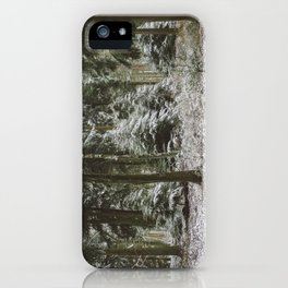 Snow in the woods. iPhone Case