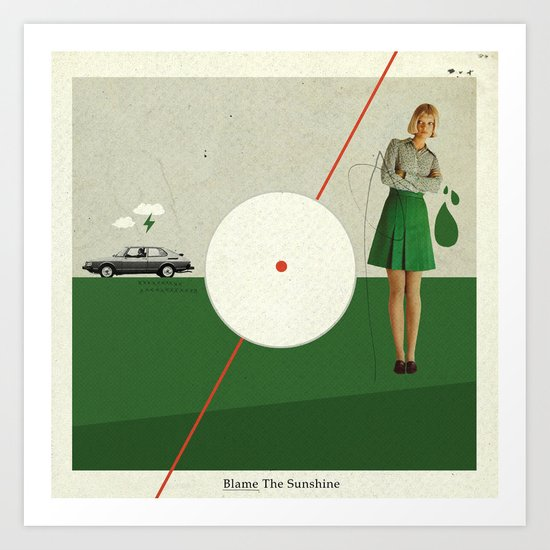 Blame The Sunshine | Collage Art Print