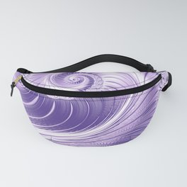 Ultra Violet Luxe Spiral Pattern | Trendy Color of the Year 2018 Fanny Pack