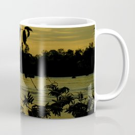 Sunset Nigthfall Mekong River Tropical Jungle Coffee Mug