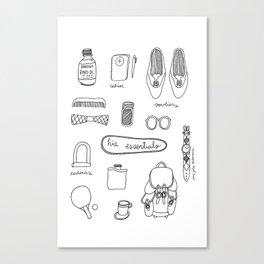His essentials Canvas Print