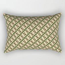 Batik Parang Green Pattern Rectangular Pillow