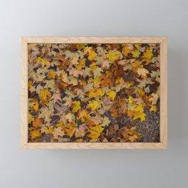 Leaves on Fire Framed Mini Art Print