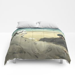 On the Beach - Edouard Manet Comforters
