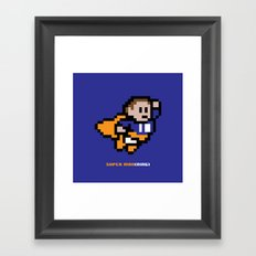 8-Bit: Super Man(ning) Framed Art Print