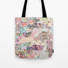Las Vegas map Nevada Tote Bag