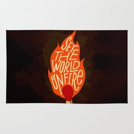 Set the world on fire Rug