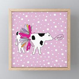 Moo Cow in Tutu Framed Mini Art Print