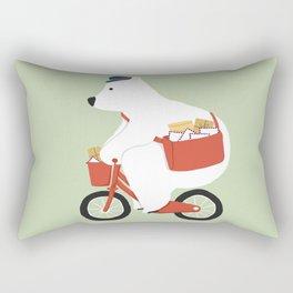 Polar bear postal express Rectangular Pillow