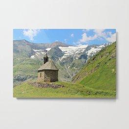 Church in the mountains Metal Print