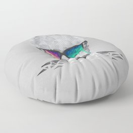 Albert Hofmann - Psychedelic Polygon Low Poly Portrait Floor Pillow