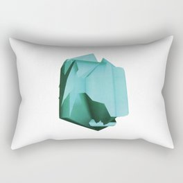 3D turquoise flying object  Rectangular Pillow
