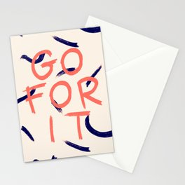 GO FOR IT #society6 #motivational Stationery Cards