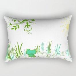 Pete the frog Rectangular Pillow