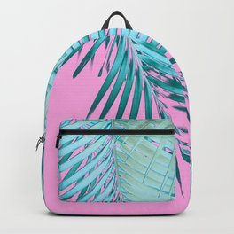 Palm Leaves Pink Blue Vibes #1 #tropical #decor #art #society6 Backpack