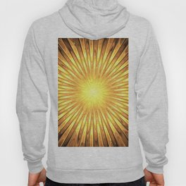 Rays of GOLD SUN abstracts Hoody