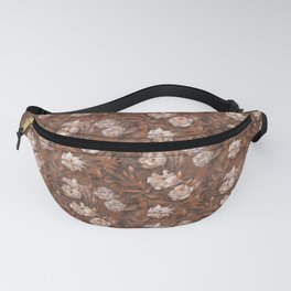 White roses in earth shades Fanny Pack