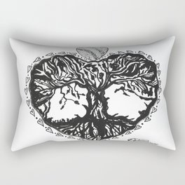"""The Tree of Hearts"" Hand-Drawn by Dark Mountain Rectangular Pillow"