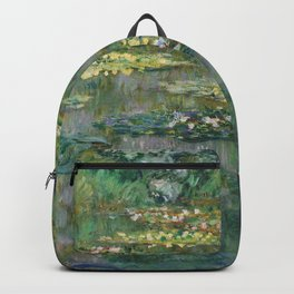 Water Lilies 1904 by Claude Monet Backpack