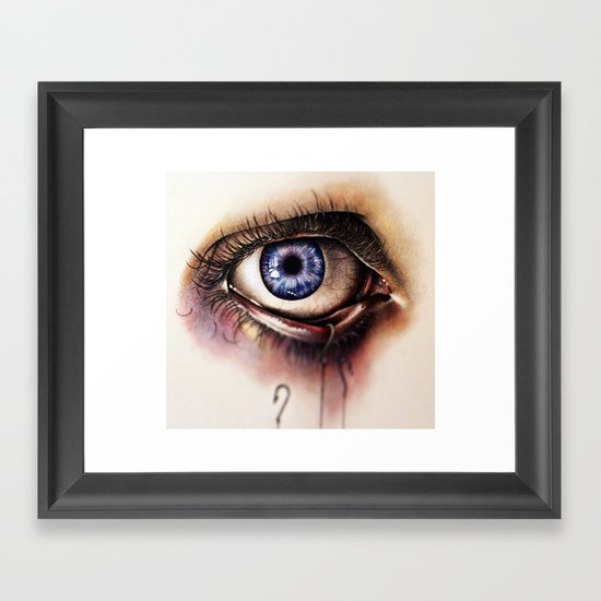 You Caught My Eye (again) Framed Art Print