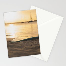 surfboard- travel photography- ocean love Stationery Cards
