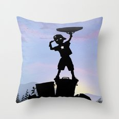 Captain Kid Throw Pillow