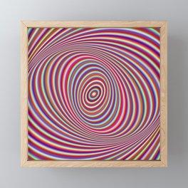 Neon hypnosis Framed Mini Art Print